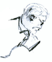 Sketch of John Russell by Yadley Day
