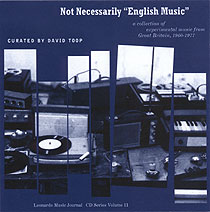 "Not necessarily ""English music"""
