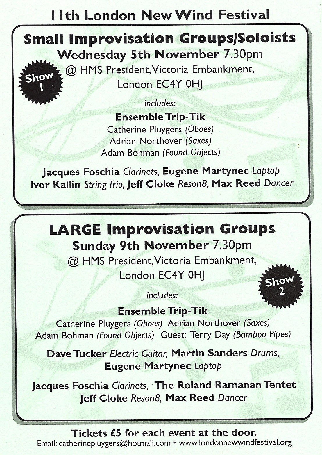 Improvisation Groups 2008