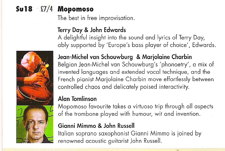 Mopomoso at the Vortex flyer